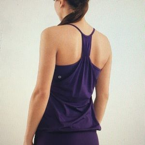 Lululemon No Limits Tank in Concord grape